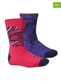"""Legowear 2er Set: Socken """"Albertine 802"""" in Pink/ Lila"""