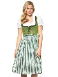"""Turi Landhaus Midi-Dirndl """"Sophie"""" in Grün/ Weiß"""