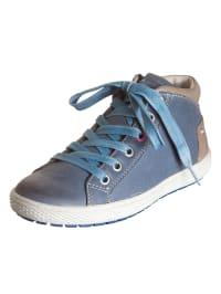 Ciao Leder-Sneakers in Taubenblau
