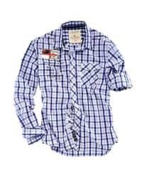 Roadsign Hemd in Blau/ Weiß