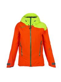 """Ziener Ski-/ Snowboardjacke """"Swinde"""" in Orange/ Hellgrün"""
