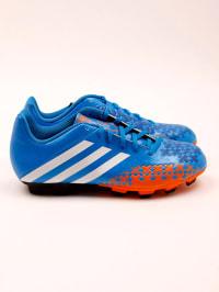Adidas Fußball-Schuhe in Blau/ Orange/ Weiß