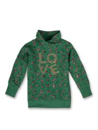 Sanetta Sweatshirt in Grün/ Pink