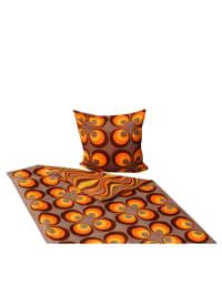 Schöner Wohnen Bettwäsche-Set in Hellbraun/ Orange