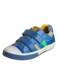 Romagnoli Leder-Sneakers in Blau/ Bunt