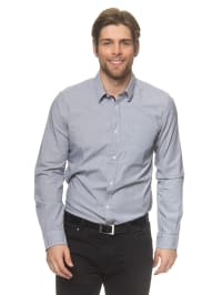 Tom Tailor Hemd in Anthrazit/ Weiß