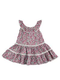TroiZenfants Kleid in Pink/ Mint/ Bunt