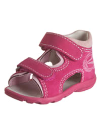 Richter Shoes Leder-Sandalen in Fuchsia/ Rosa