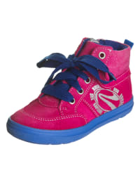 Richter Shoes Leder-Sneakers in Pink/ Blau