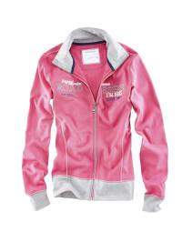 Roadsign Sweatjacke in Pink/ Hellgrau