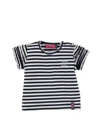 ZieZoo Shirt in Dunkelblau/ Weiß