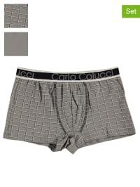 Carlo Colucci 2er-Set: Boxershorts in Grau