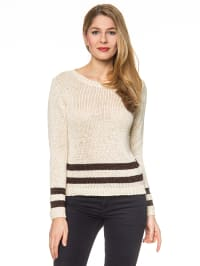 More & More Pullover in Creme/ Dunkelbraun