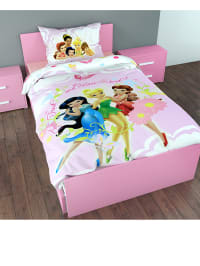 "Dreamhouse Bedding Bettwäsche-Set ""Fairies Rainbow"" in Rosa/ Bunt"