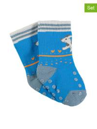 Sterntaler 2er-Set: Stopper-Socken in Blau/ Grau
