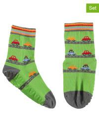 Sterntaler 2er-Set: Stopper-Socken in Grün/ Bunt