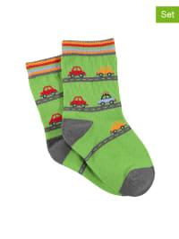 Sterntaler 2er-Set: Socken in Grün/ Bunt