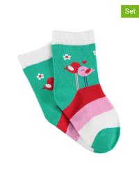 Sterntaler 2er-Set: Socken in Grün/ Rosa
