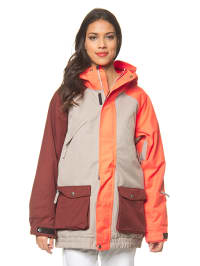 "Nikita Ski-/ Snowboardjacke ""Meron"" in Orange/ Grau/ Bordeaux"