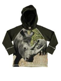 "Wild Sweatshirt ""Loose"" in Khaki/ Grau/ Beige"