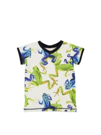 """Wild Shirt """"Navy"""" in Weiß/ Blau/ Grün"""