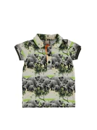 Wild Poloshirt in Grau/ Grün