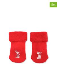 """Lief 2er-Set: Socken """"lief!"""" in Rot"""