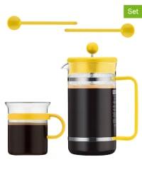 """Bodum 5tlg. Kaffeebereiter-Set """"Bistro"""" in Gelb - 1 l"""