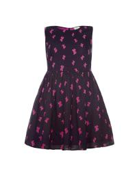 Yumi Kleid in Schwarz/ Pink