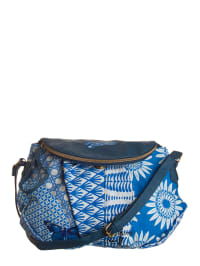 "Desigual Umhängetasche ""Soho Jacquard Blue"" in Blau/ Weiß - (B)36 x (H)28 x (T)3 cm"