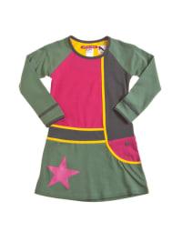 """LoveStation22 Kleid """"Maud"""" in Khaki/ Pink/ Gelb"""