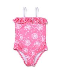 Sunuva Badeanzug in Pink/ Weiß