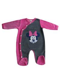 Disney Baby Strampler in Grau/ Pink