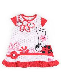 What´s up Kids Kleid in Weiß/ Rot