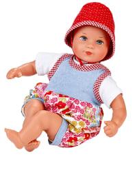 "Käthe Kruse 3tlg. Puppenoutfit ""Minibambina Anna-Lena"" in Hellblau/ Rot - ab 18 Monaten"