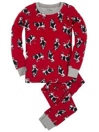 "Hatley Pyjama ""Cows On Red"" in Rot/ Schwarz/ Grau"