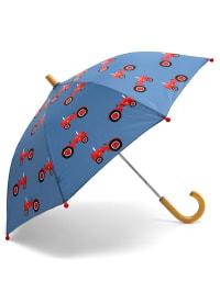 """Hatley Regenschirm """"Farmer Jack"""" in Blau/ Rot"""