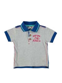 Sanetta Poloshirt in Grau/ Blau