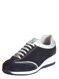 "Swissies Sneakers ""Patrizia"" in Dunkelblau/ Silber"