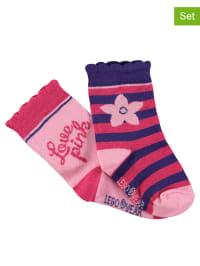 Legowear 2er-Set: Socken in Rosa/ Pink/ Lila