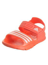 Adidas Badesandalen in Orange/ Weiß