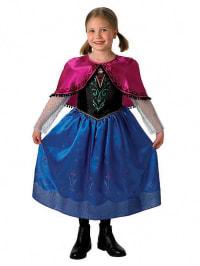 """Rubie`s Kostüm """"Anna Deluxe Frozen"""" in Blau/ Pink/ Schwarz"""