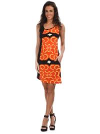 "Aller Simplement Kleid ""Pitu"" in Orange/ Schwarz/ Gelb"