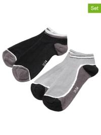 Ewers 4er-Set: Socken in Schwarz/ Grau