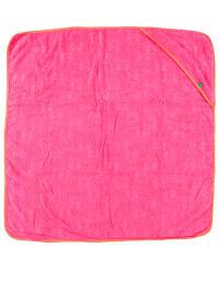 Green Cotton Kapuzenhandtuch in Pink/ Orange - (B)95 x (L)95 cm