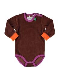 Green Cotton Body in Braun/ Lila/ Orange