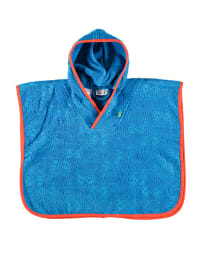 Green Cotton Badeponcho in Blau