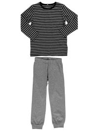 "Name it Pyjama ""Velin"" in Grau/ Schwarz"