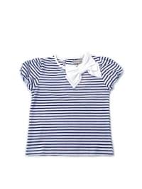 Darcy Brown Shirt in Dunkelblau/ Weiß