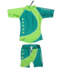 Zunblock 2tlg. Sonnenschutzoutfit in Grün